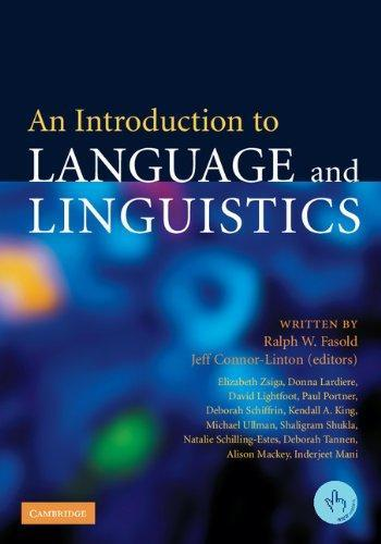 9780521612357: An Introduction to Language and Linguistics