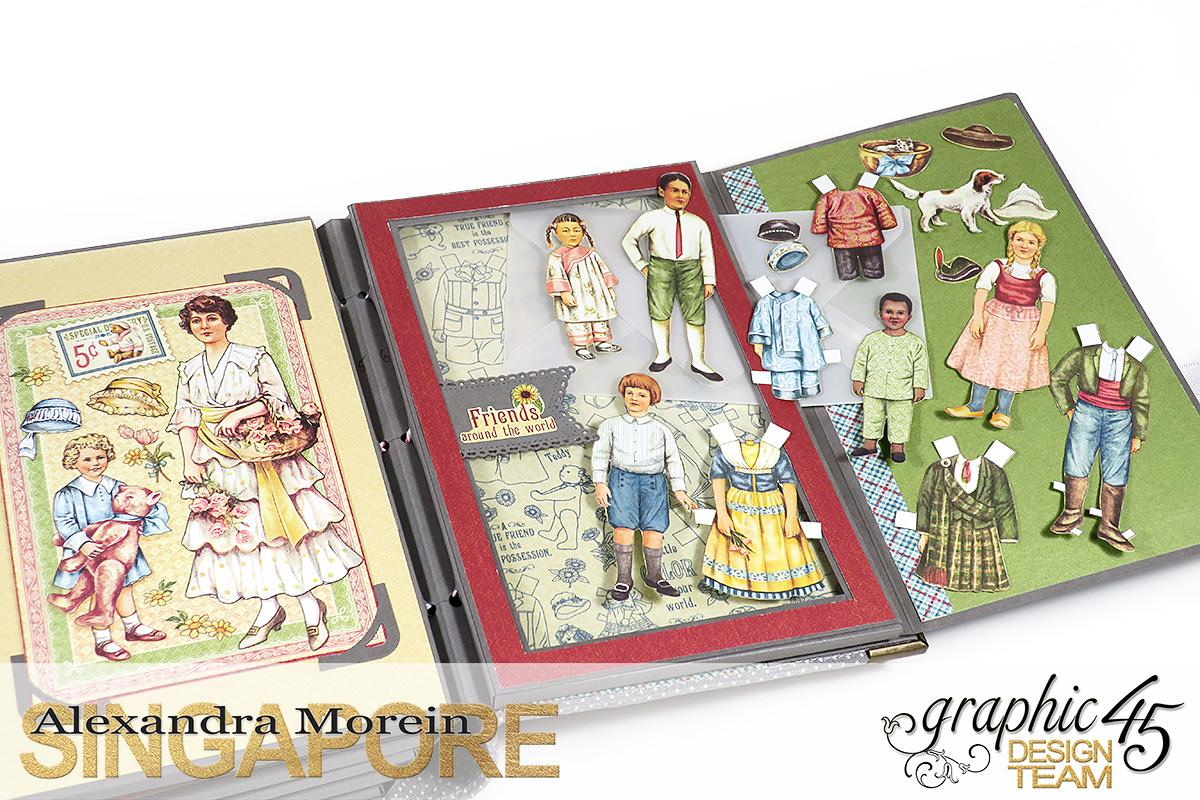 Paper Doll Play Set and Mini Album, Penny's Family Paper Doll, Tutorial by Alexandra Morein, Product by Graphic 45, Photo 18.jpg