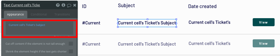 Using Bubble's no code editor to display a list of dynamic support tickets
