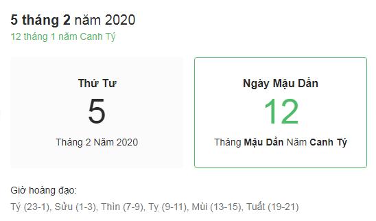 Dự đoán kết quả xsmb ngày 05/02/2020 theo phong thủy