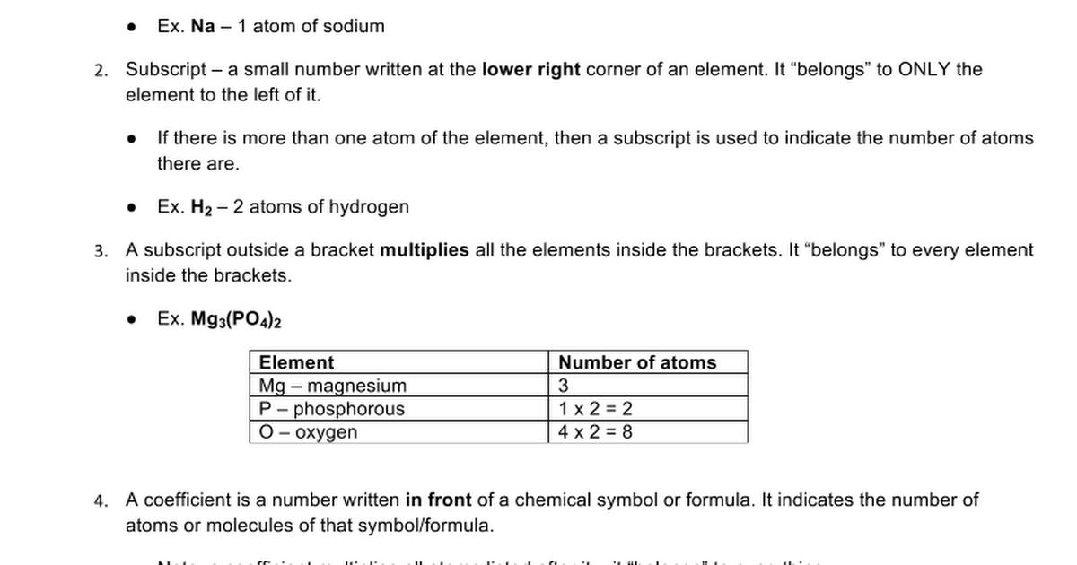 Snc 1d Chem10a Counting Atoms Google Docs