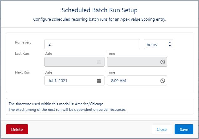 Prioritization Helper Release Batch Run Schedules