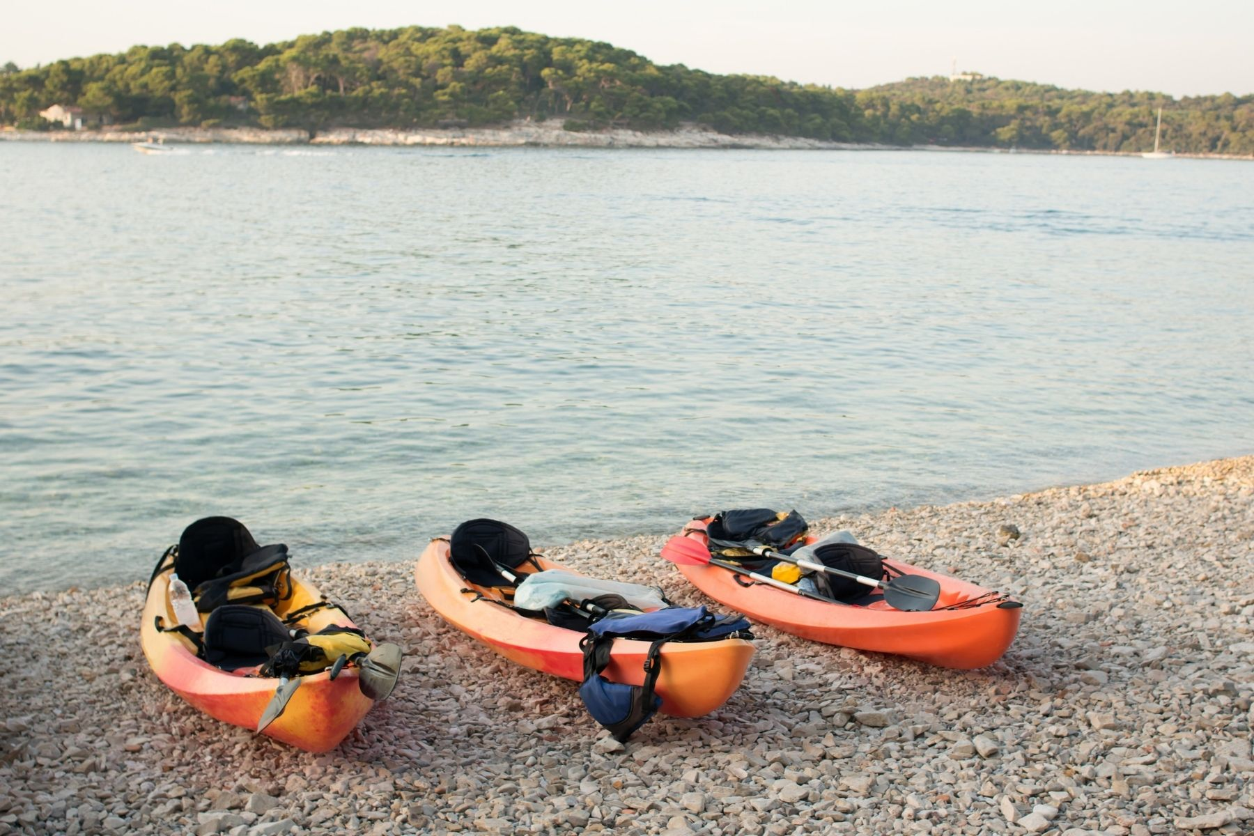 sit on top fishing kayaks as option for kayak camping