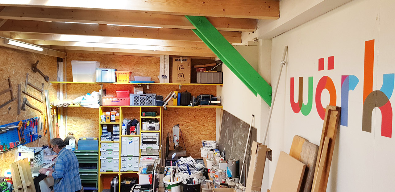 Impression of workshop space Wörking
