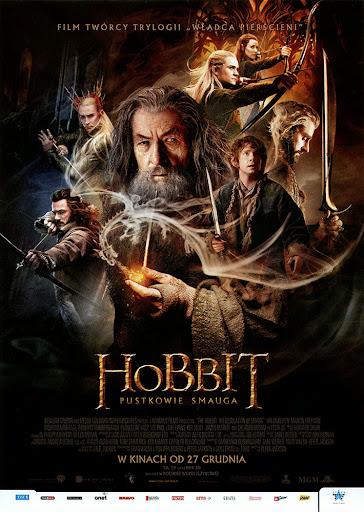 Przód ulotki filmu 'Hobbit: Pustkowie Smauga'