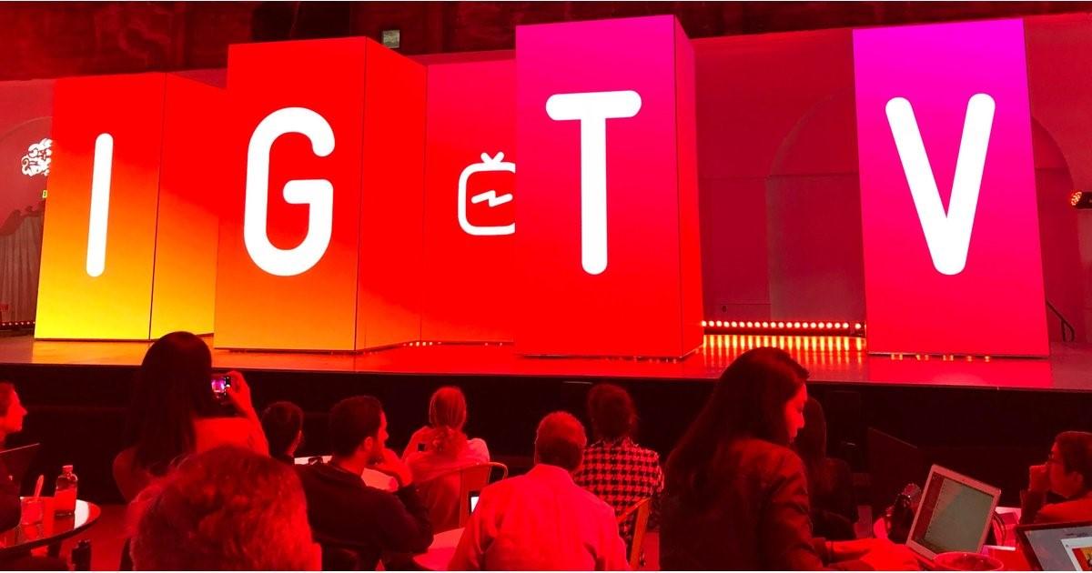 Imagen del panel de anuncios de IGTV.