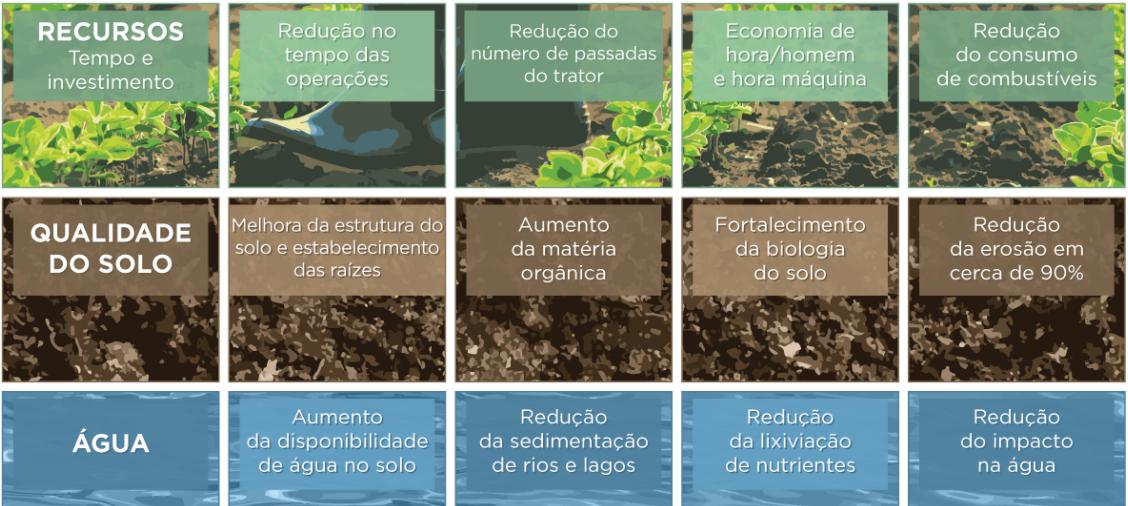 Benefícios do Sistema de Plantio Direto, uma das práticas adotadas em agricultura de baixa emissão de carbono