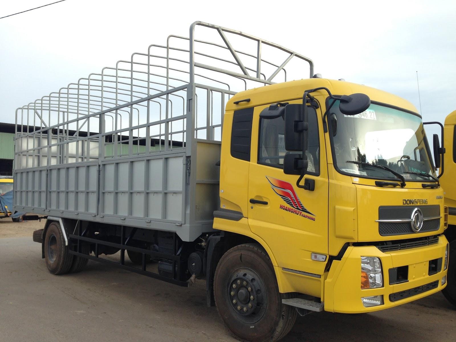 xe tải Dongfeng màu vàng