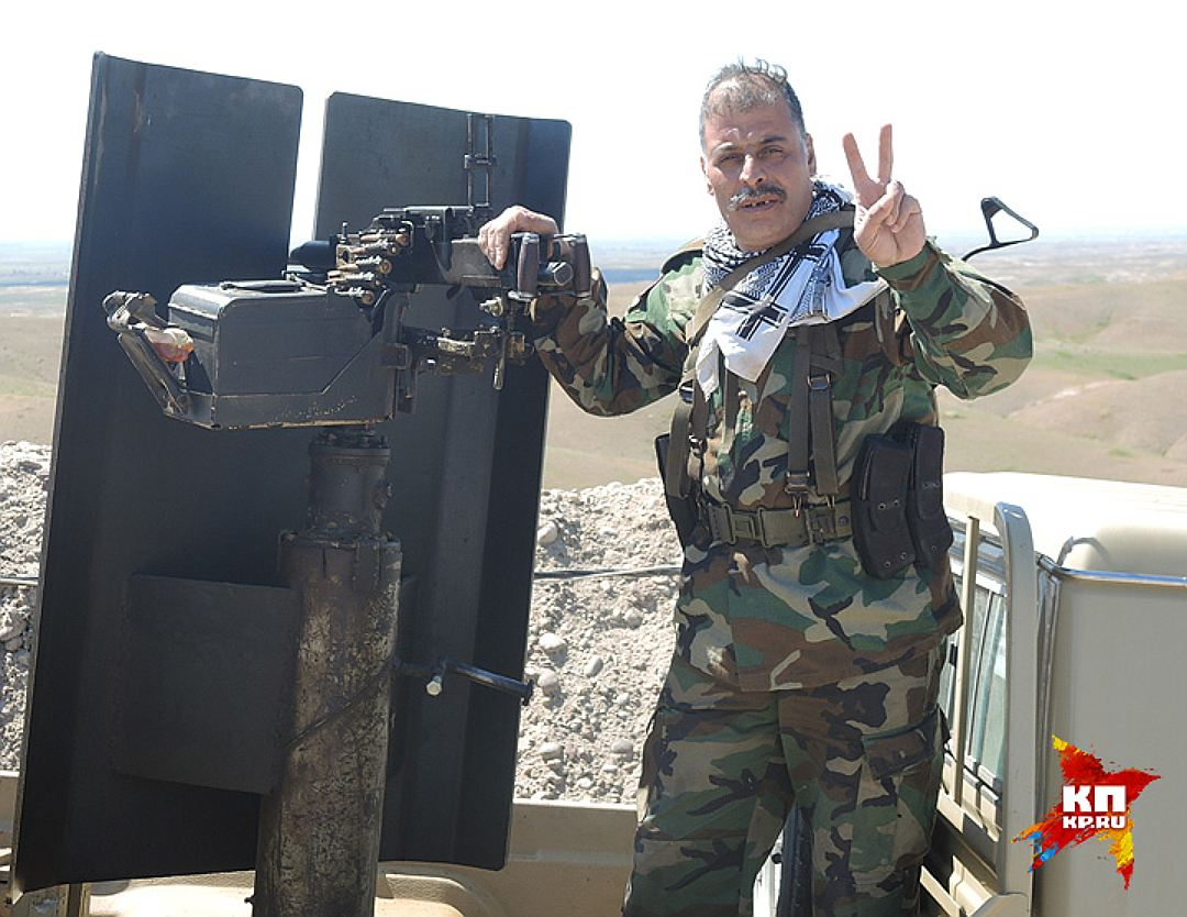Боец пешмерга на фронте против ИГИЛ. Фото: Дарья АСЛАМОВА