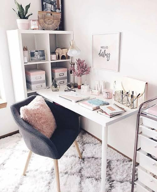Pastel-colored Inspired Study Room Design