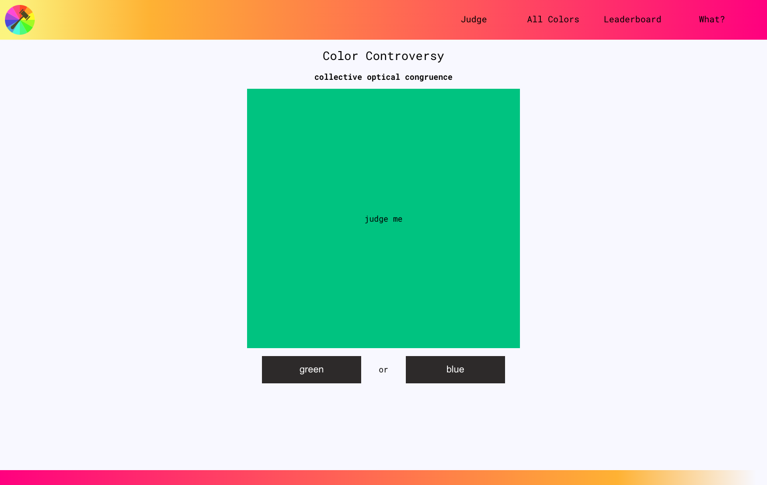 Screenshot of Color Controversy page