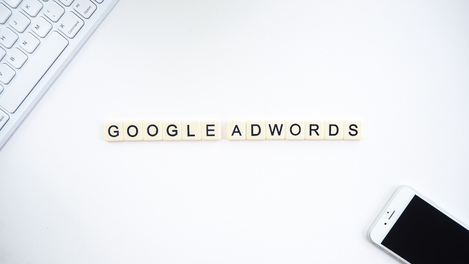 Google ads in scrabble letters