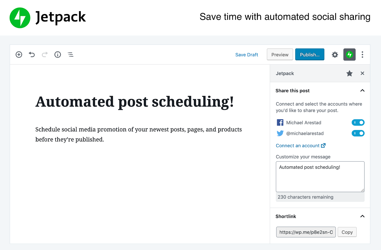 jetpack WordPress social media plugins