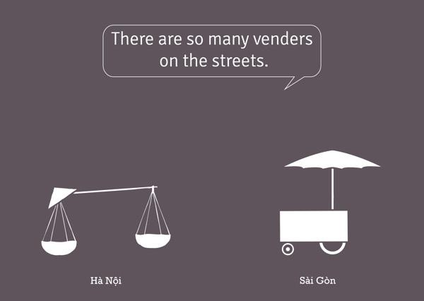 Thú vị bộ ảnh so sánh vui sự khác nhau giữa Hà Nội và Sài Gòn 1