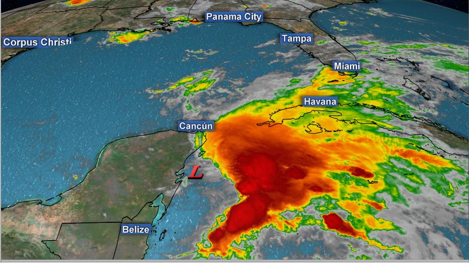 Max Scene Presentation - Storm over the southeastern Gulf of Mexico
