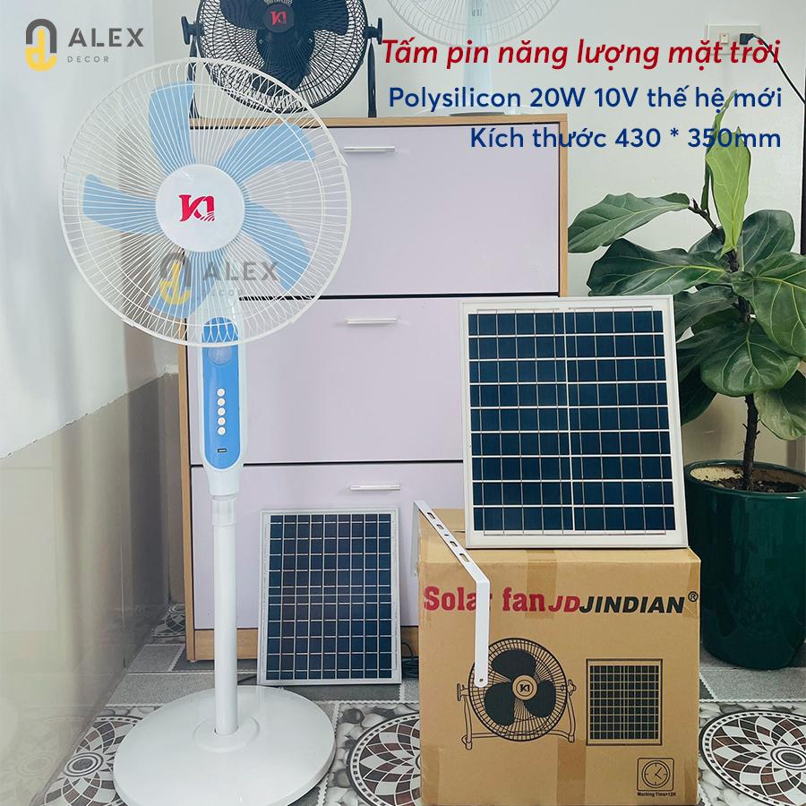 quạt năng lượng mặt trời chính hãng Tiệm Decor
