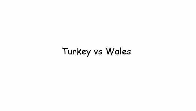 Turkey vs Wales