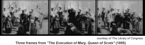 Frames from The Execution of Mary Queen of Scots 1895.