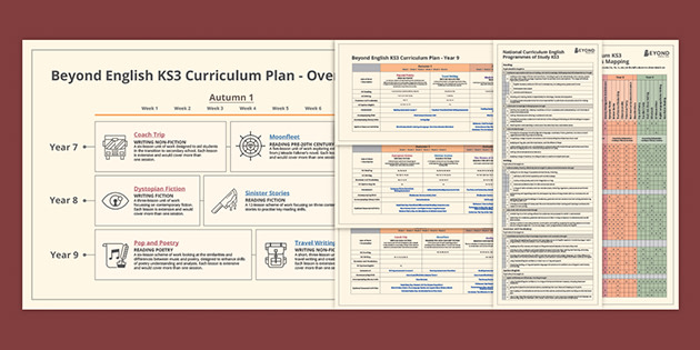 A firm back to school essential - Beyond's KS3 English Curriculum Map