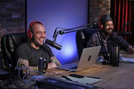 two men on a podcast show.
