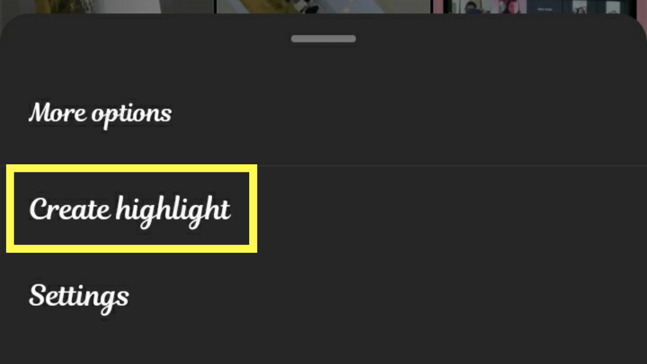 Create Highlights on Instagram.