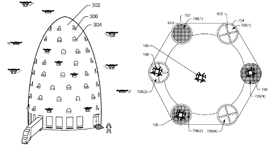 Схема логистического центра Amazon
