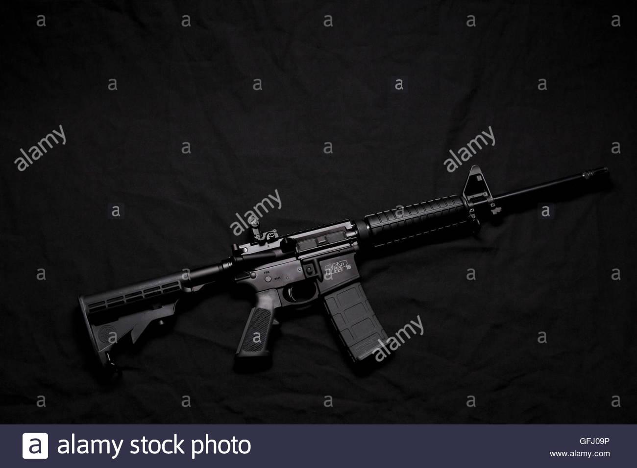 Smith & Wesson M&P 15 Sport II Stock Configuration Stock Photo ...