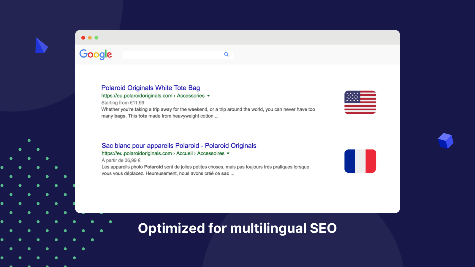 SEO visibility in both languages