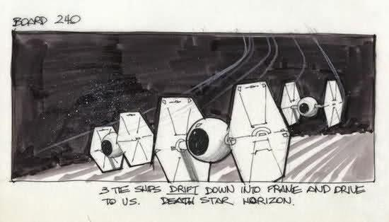 tie fighter story board ANH