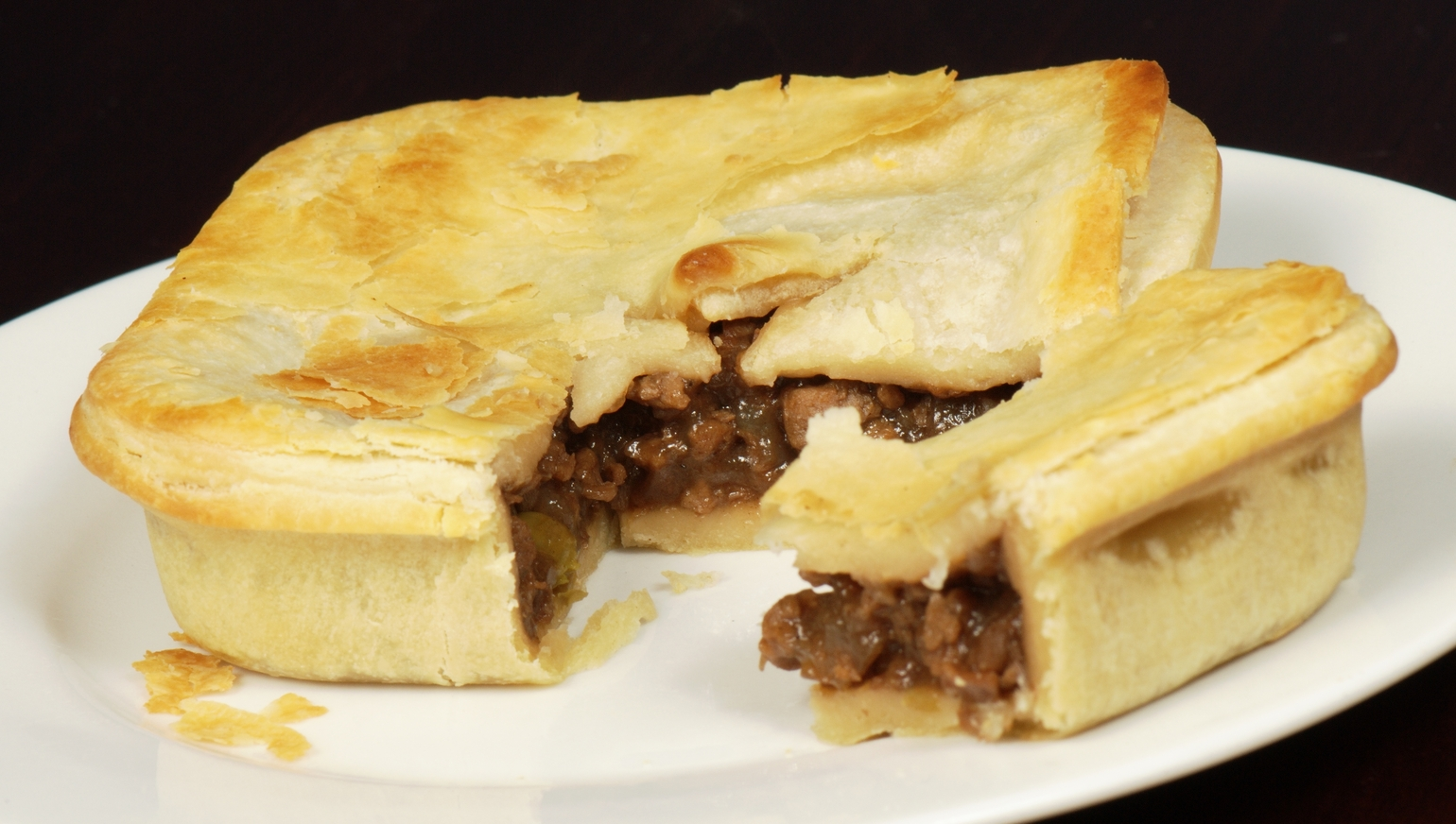 A vegan faux-meat pie,