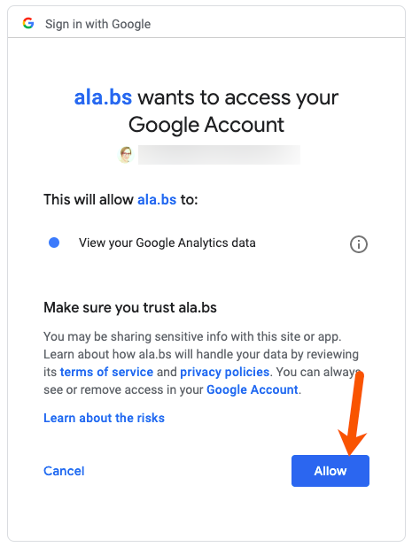 allow authority labs access to google analytics