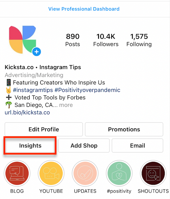 how to access instagram insights