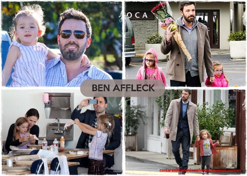 Ben Affkeck con Violet, Seraphina y Samuel