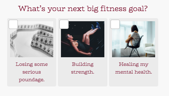 what's your next big fitness goal quiz question