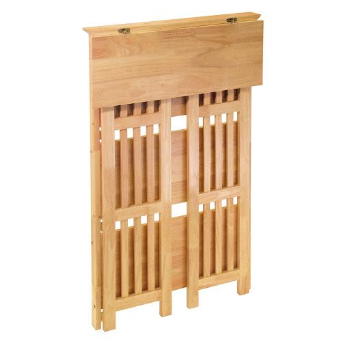 Solid Wood Mission Style 4 Shelf Folding Bookcase Sturdy