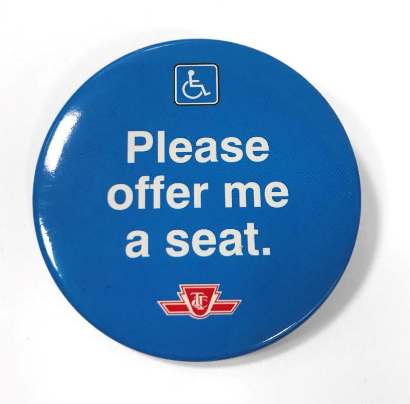 """Image result for ttc rolls out its """" please offer me a seat program"""""""