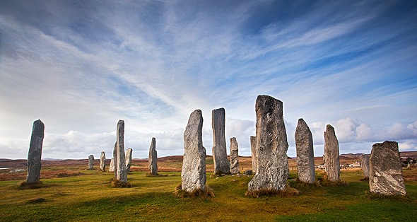 Callanish standing stones, Isle of Lewis. In Otter Hebrides, Scotland
