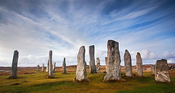 Callanish standing stones, Isle of Lewis. In Otter Hebrides, Scotland