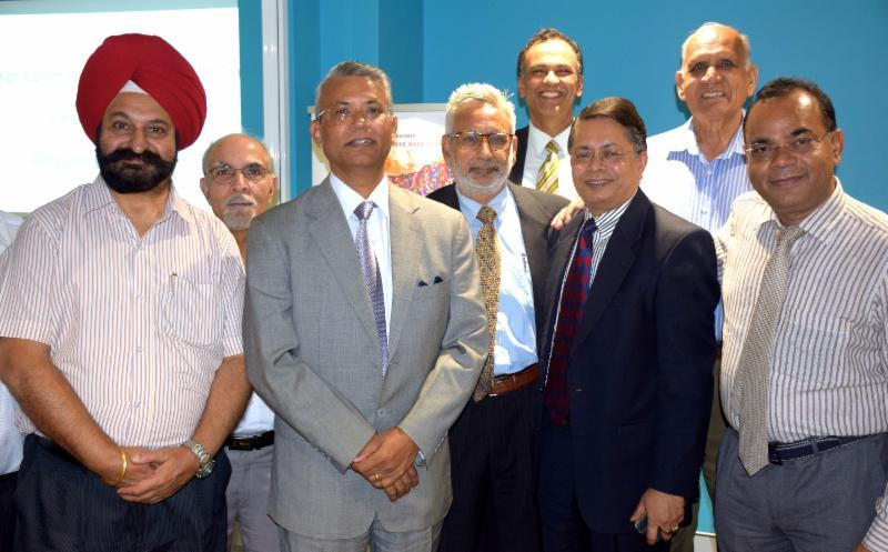 Dr. Ajay M. Gondane with community leaders in Sydney
