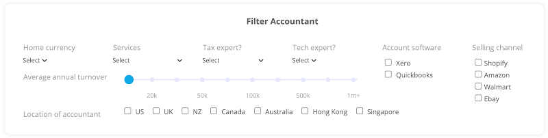 Find an accountant search