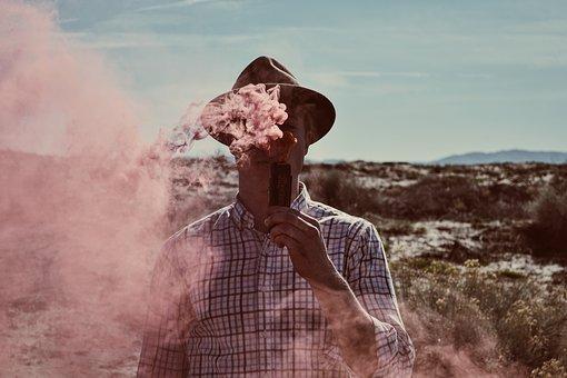 People, Man, Alone, Smoking, Vape, Smoke
