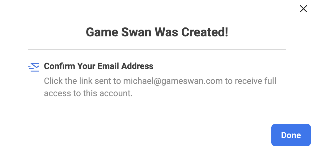 confirming email