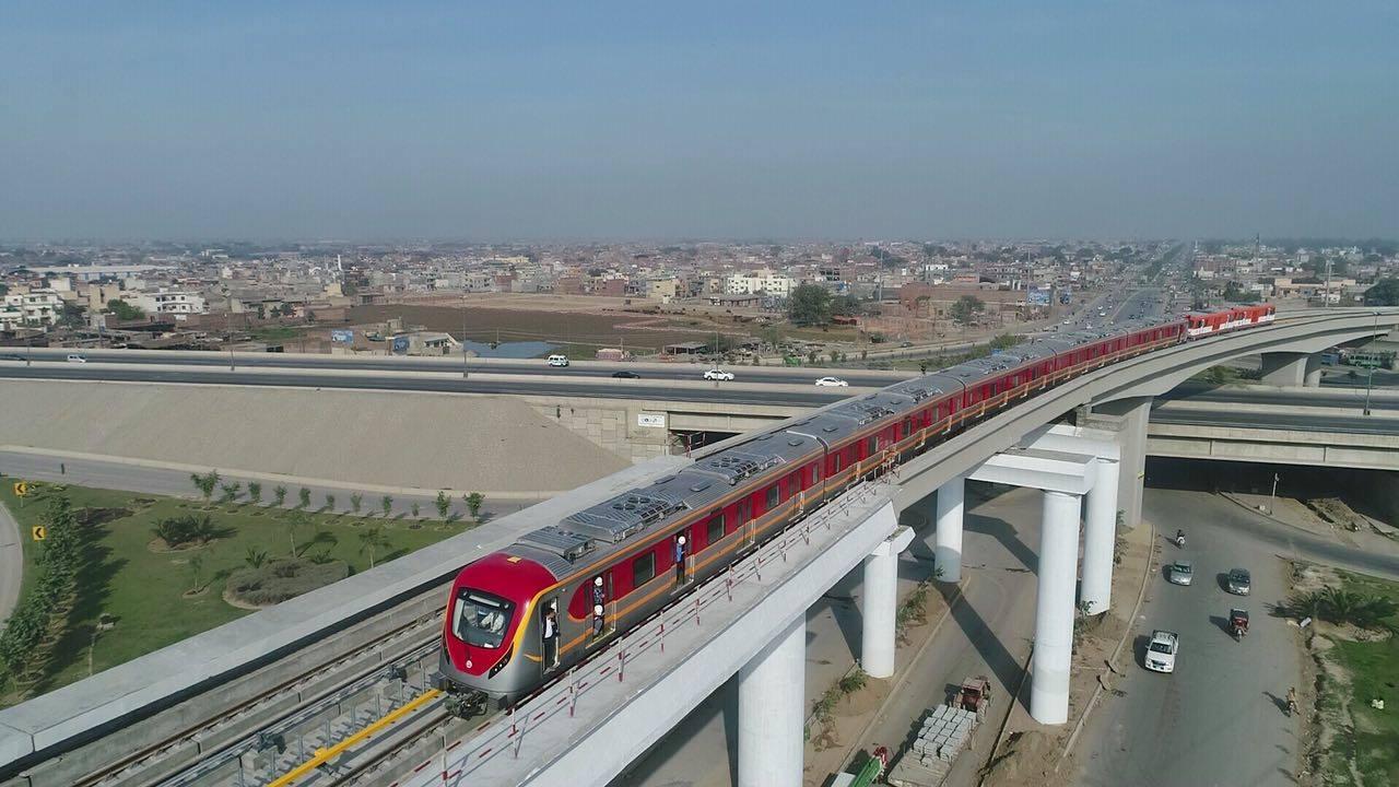 Lahore's Metro Train