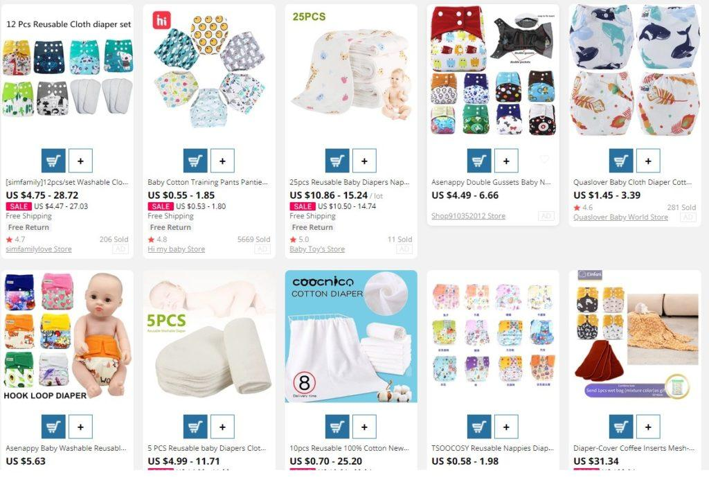 dropship diapers from Aliexpress