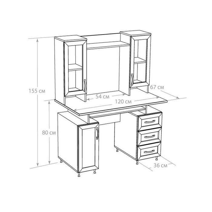 компьютерный стол пошагово инструкция