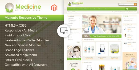 Magento pharmacy theme Medicine