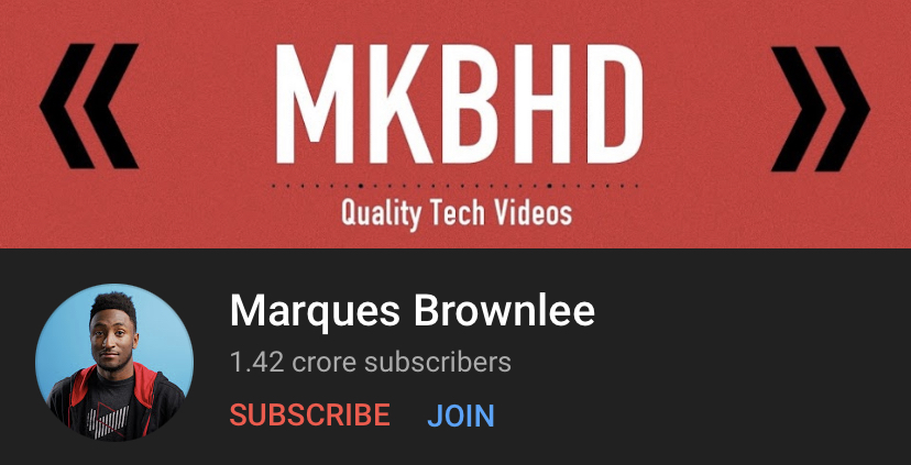 Marques is a tech reviewer who makes informative videos about smartphones.