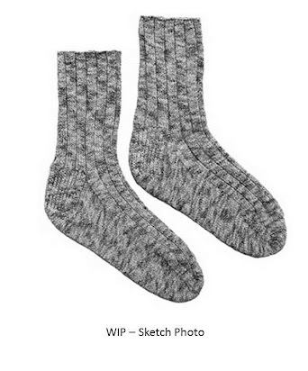 Basic Toe Up Ribbed Socks For Men