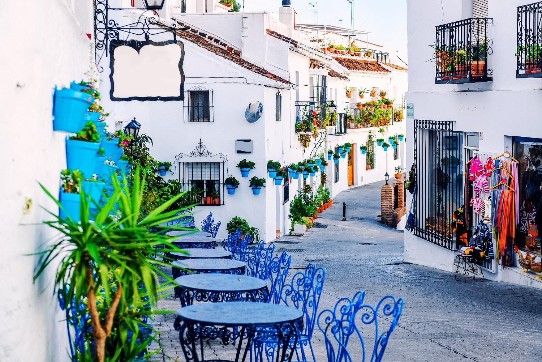 Plaza del pueblo blanco de Mijas