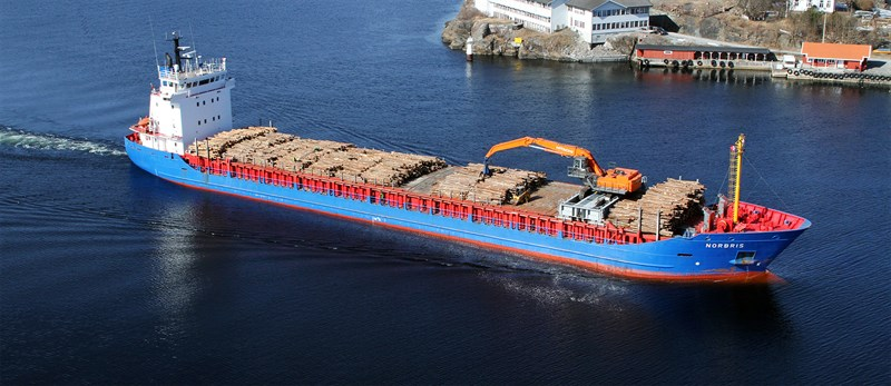 Arriva Shipping's cargo ship M/V Norbris at sea